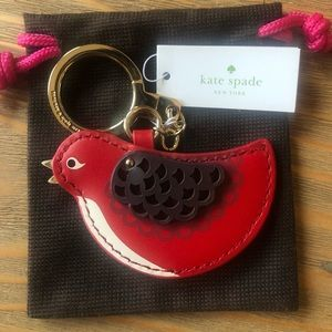Kate Spade Oh La La Bird Keychain Gift giving cond